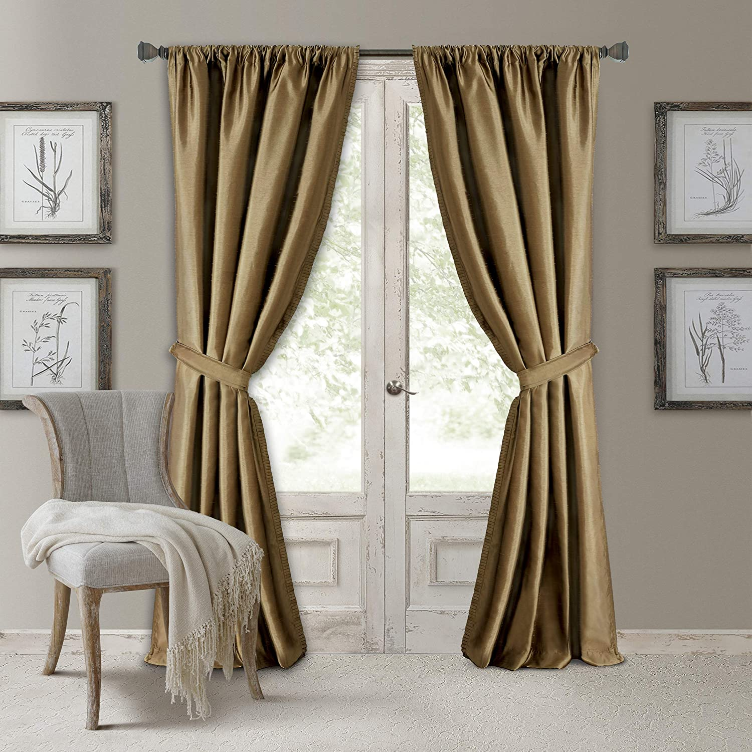 Details about  /Versailles Resin Wood Curtain Drape Holdbacks Ornate Medallion Colonial 7120