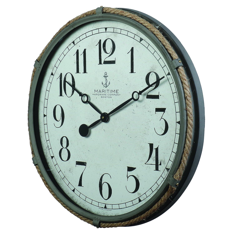 "21/"" H x 21 W x 2.36/"" D Wall Clock Grey Pendulux 5.59 lbs Maritime"