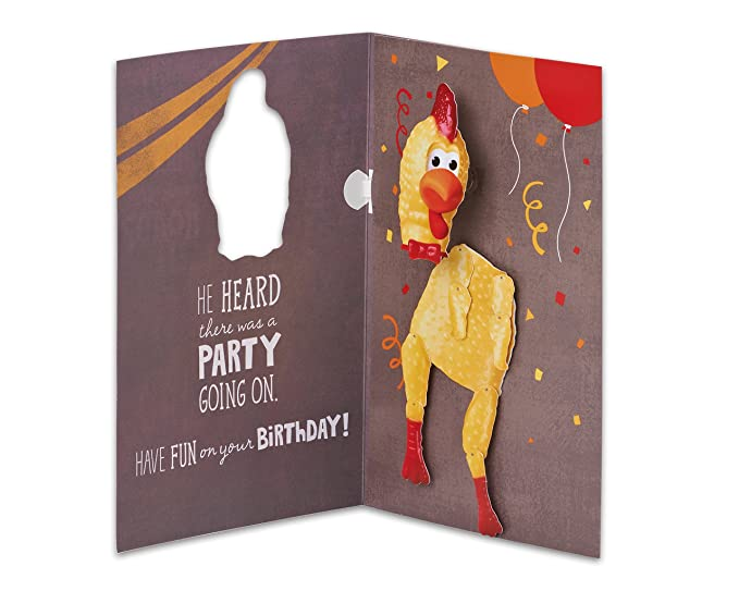 Amazon American Greetings Funny Dancing Chicken Birthday Card