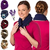 Lavender Neck Wrap Microwavable Aromatherapy - Neck Wrap for Pain Relief - Microwave Heating Pad for Neck and Shoulders - Her