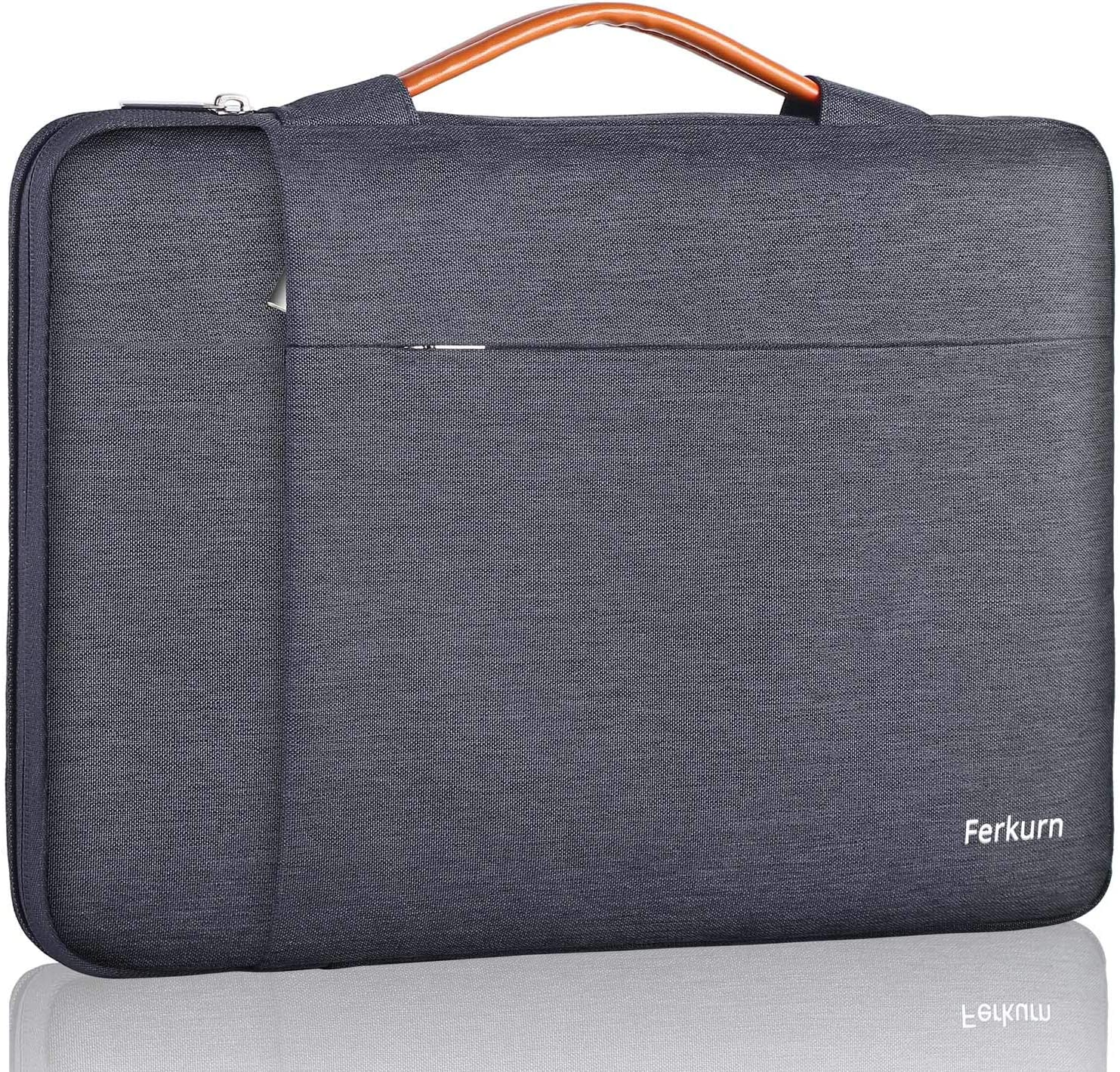 Ferkurn Chromebook Sleeve 11 11.6 Inch Laptop Case Waterproof with Handle Protective Bag Compatible with MacBook Air 11.6, Stream 11.6, MacBook Pro 13, Mac 12 Retina, Surface Pro X/7/6/5/4/3, Gray