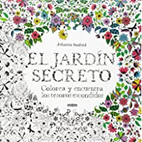 El jardín secreto: Colorea y encuentra los tesoros