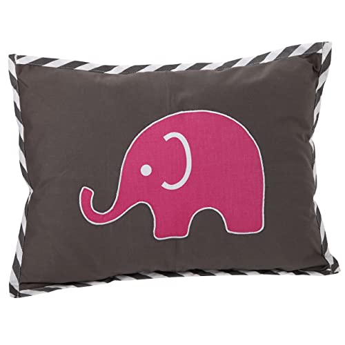 Bacati – Elephants Pink Grey Dec Pillow