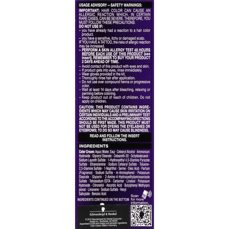 Schwarzkopf color ultimate online kaufen - Amazon Com Schwarzkopf Ultime Hair Color Cream 3 3 Amethyst Black 2 03 Ounce Beauty