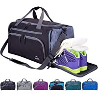 Venture Pal Packable Sports Gym Bag with Wet Pocket & Shoes Compartment Travel Duffel Bag for Men and Women