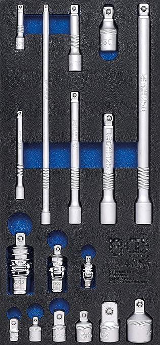 6,3 mm BGS 4127 | 50 piezas 1//4 Bandeja para carro 1//3: Juego de llaves de vaso
