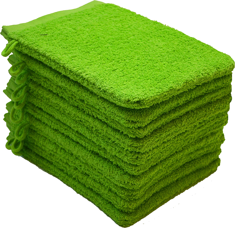 Verde Manzana 100/% algod/ón Pack de 10-15x21cm NatureMark 10 Toallas