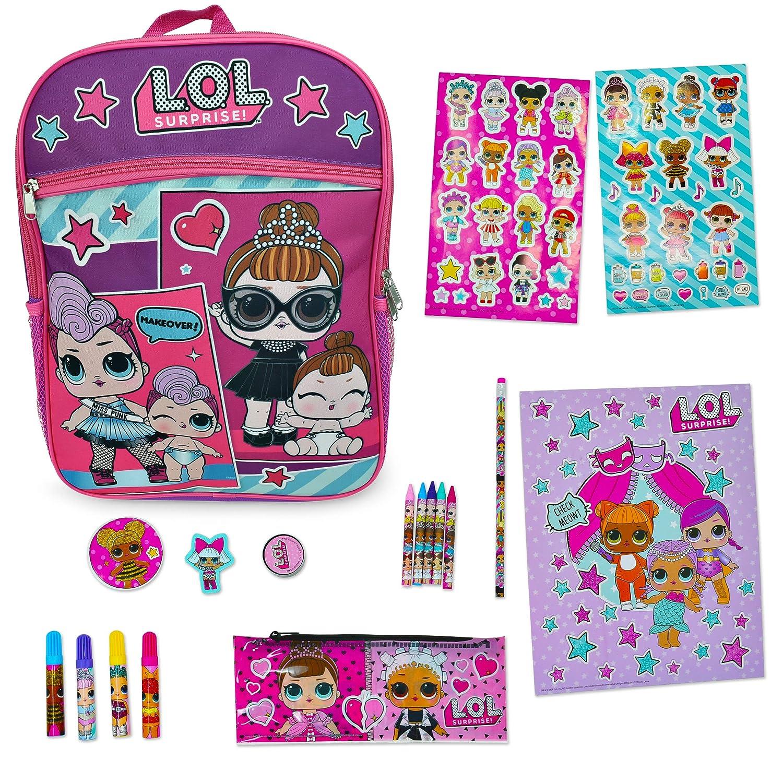 LOL Surprise! Backpack Purple 16 and L.O.L School Supplies (Purple) L.O.L. Surprise!