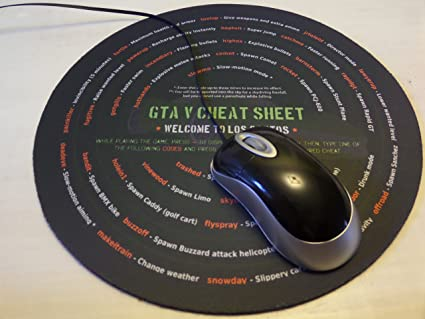 GTA 5 Mouse Pad with All the game's Cheats & Codes For PC - Enjoy