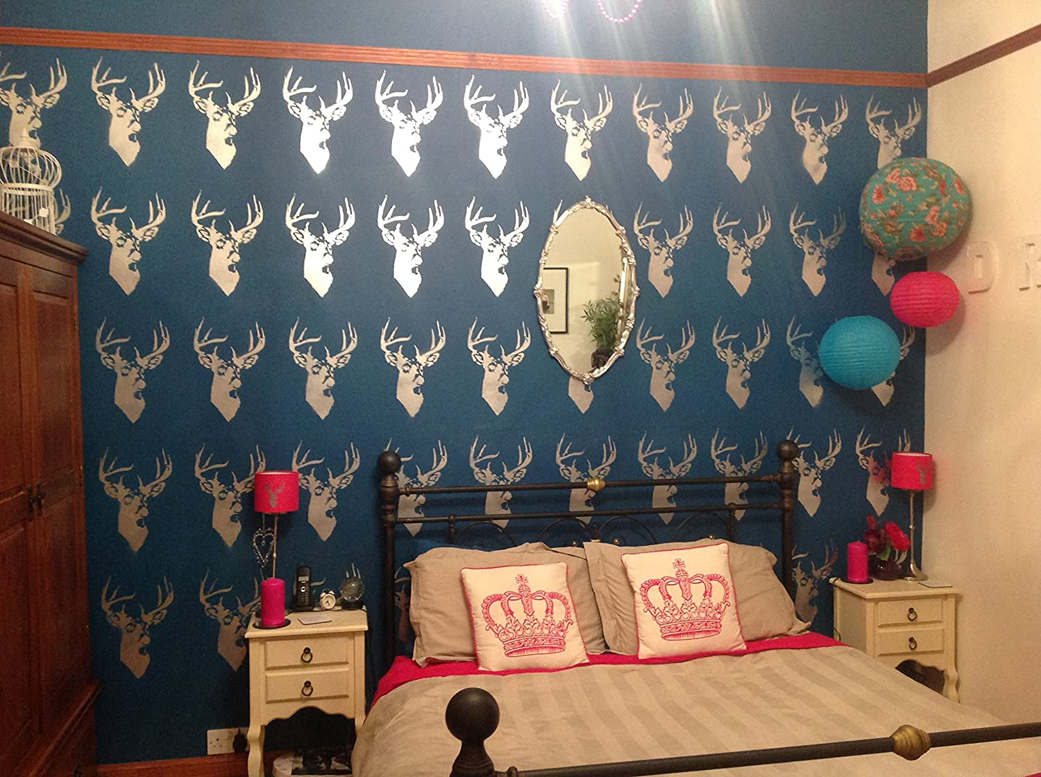 Stag Head Home Decorating /& Craft Stencil XS//11X17CM Paint Stags on Walls Fabrics and Furniture 190 mylar Reusable.