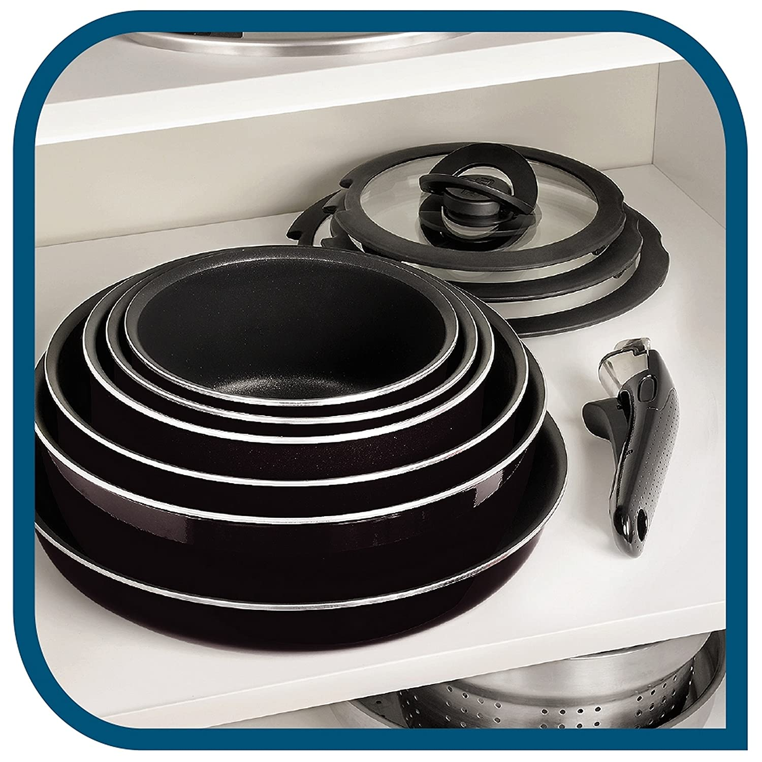 26/cm Red Wine Tefal L6133303 Ingenio/So Intensive Saut/é Pan Handle and Lid