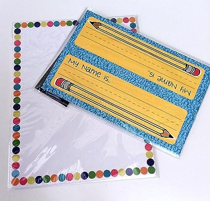 amazon com classroom name plates computer paper pencils