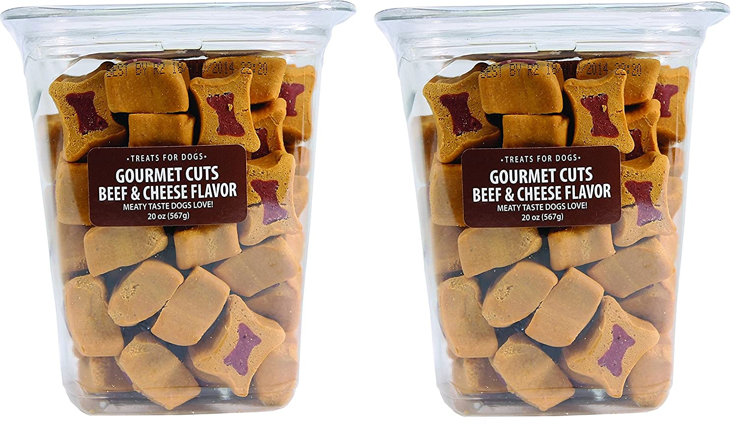 (2 Pack) Triumph Pet Industries-Gourmet Cuts Dog Treats- Beef & Cheese 20 Ounce