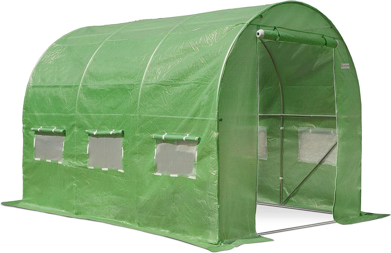 Garden Point Green Polytunnel Greenhouse