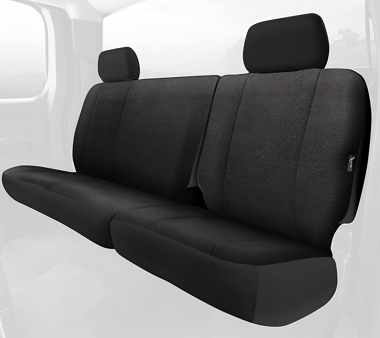 Rear Split Seat 60//40//Saddle Blanket Fia TRS42-82 BLACK TRS40 Solid Wrangler Solid Black Seat Cover