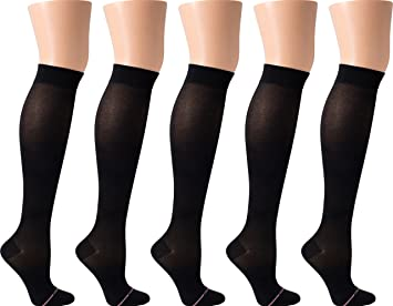 3ad03e0777d Image Unavailable. Image not available for. Color  Dr. Motion Women s  Compression Ultra Thin Liner Knee High Socks 5 Pair Pack (Black