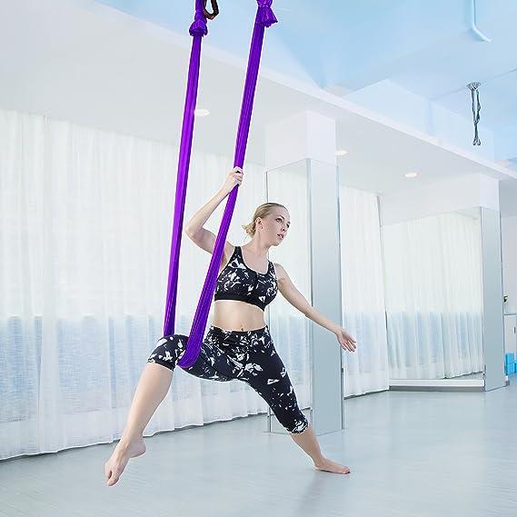 Amazon.com: Gpeng – Juego de columpio para yoga aéreo – seda ...