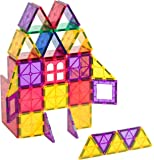 Playmags Clear Colors Magnetic Tiles Building Set 60 Piece Starter Set