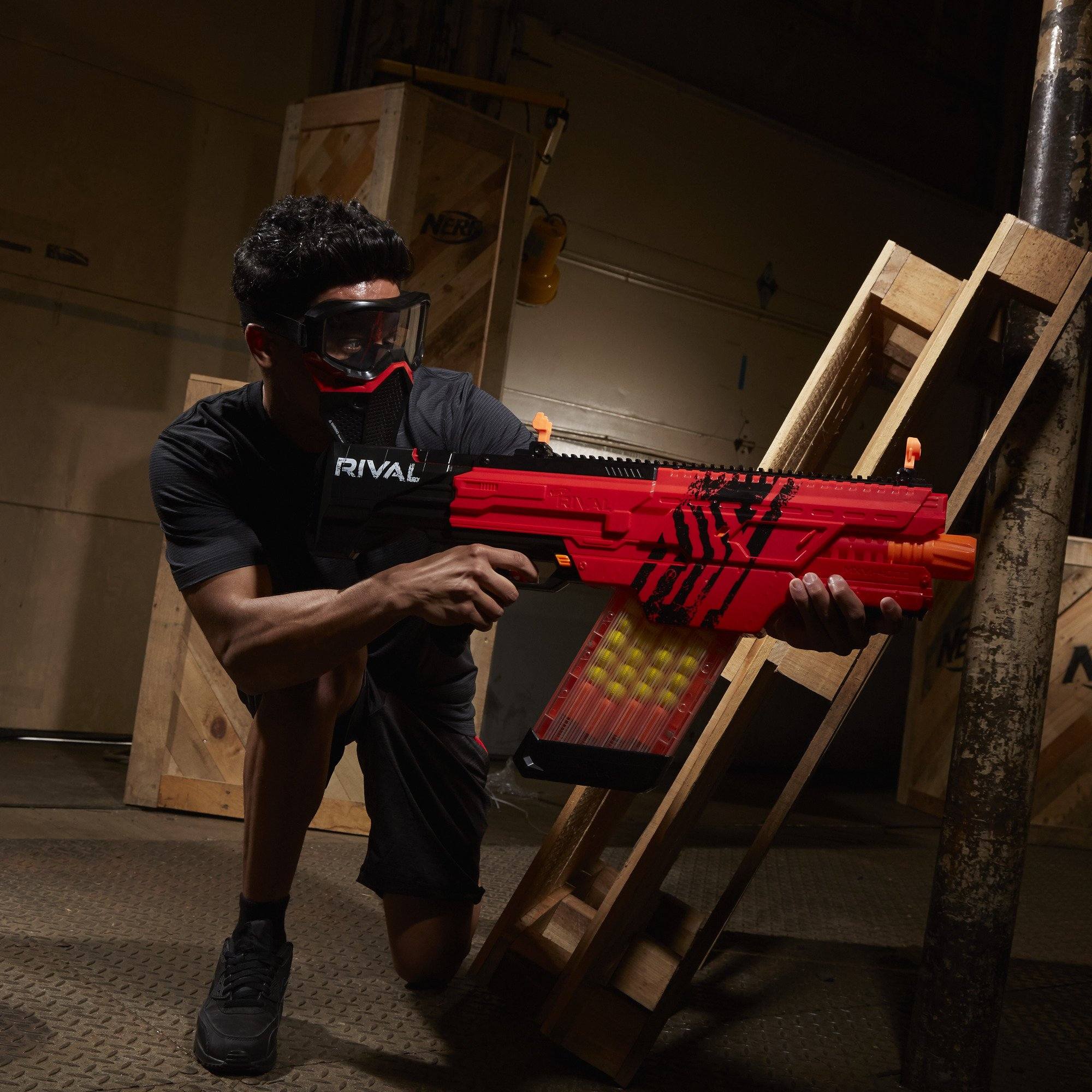 Nerf Rival Khaos MXVI-4000 Blaster (Red) by NERF (Image #13)