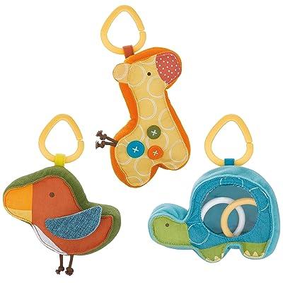 Skip Hop Giraffe Safari Rattle Trio Toy : Baby Rattles : Baby