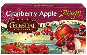 Celestial Seasonings Herbal Tea, Cranberry Apple Zinger, 20 Count