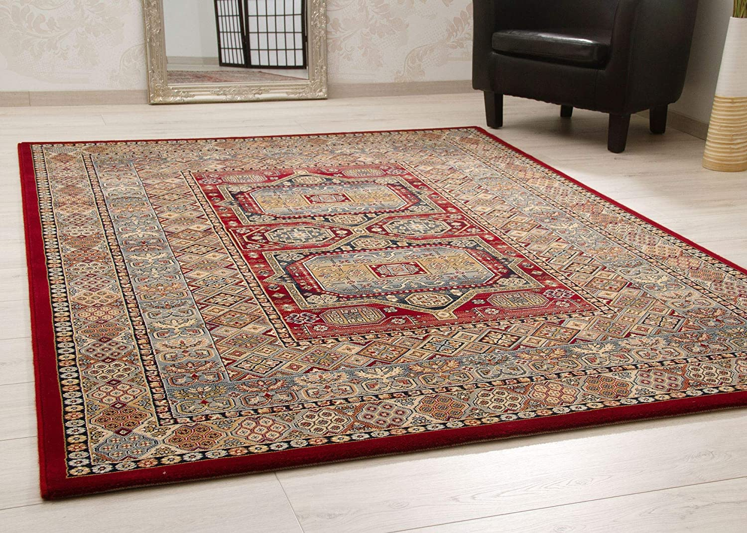 Steffensmeier Rug Classical Quality Oriental Style For Living Room And Bedroom In Red Blue Size 160x230 Cm Amazon Co Uk Kitchen Home