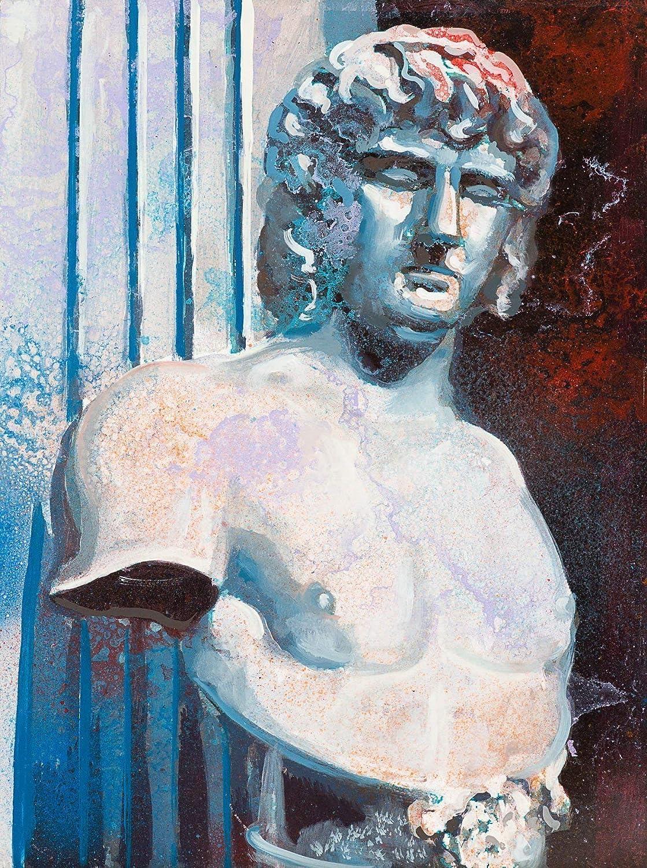 Cabeza Romana II Pintura Original Hecha A Mano