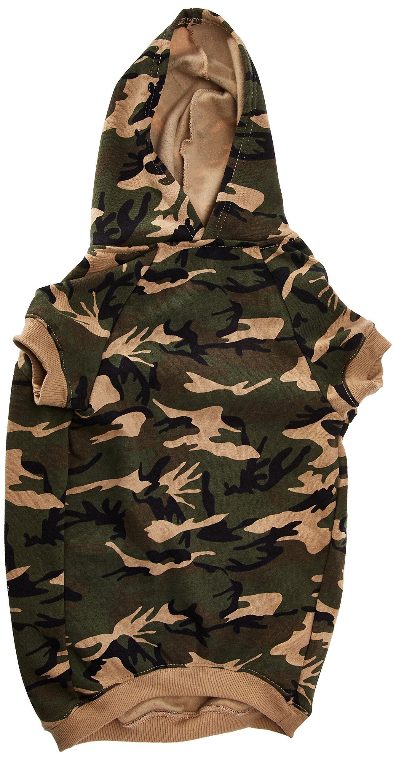 Casual Canine Camo Hoodie for Dogs, 20'' XL, Green by Casual Canine