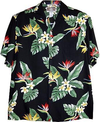 RJC Boys Island Bird of Paradise Panel Rayon Shirt
