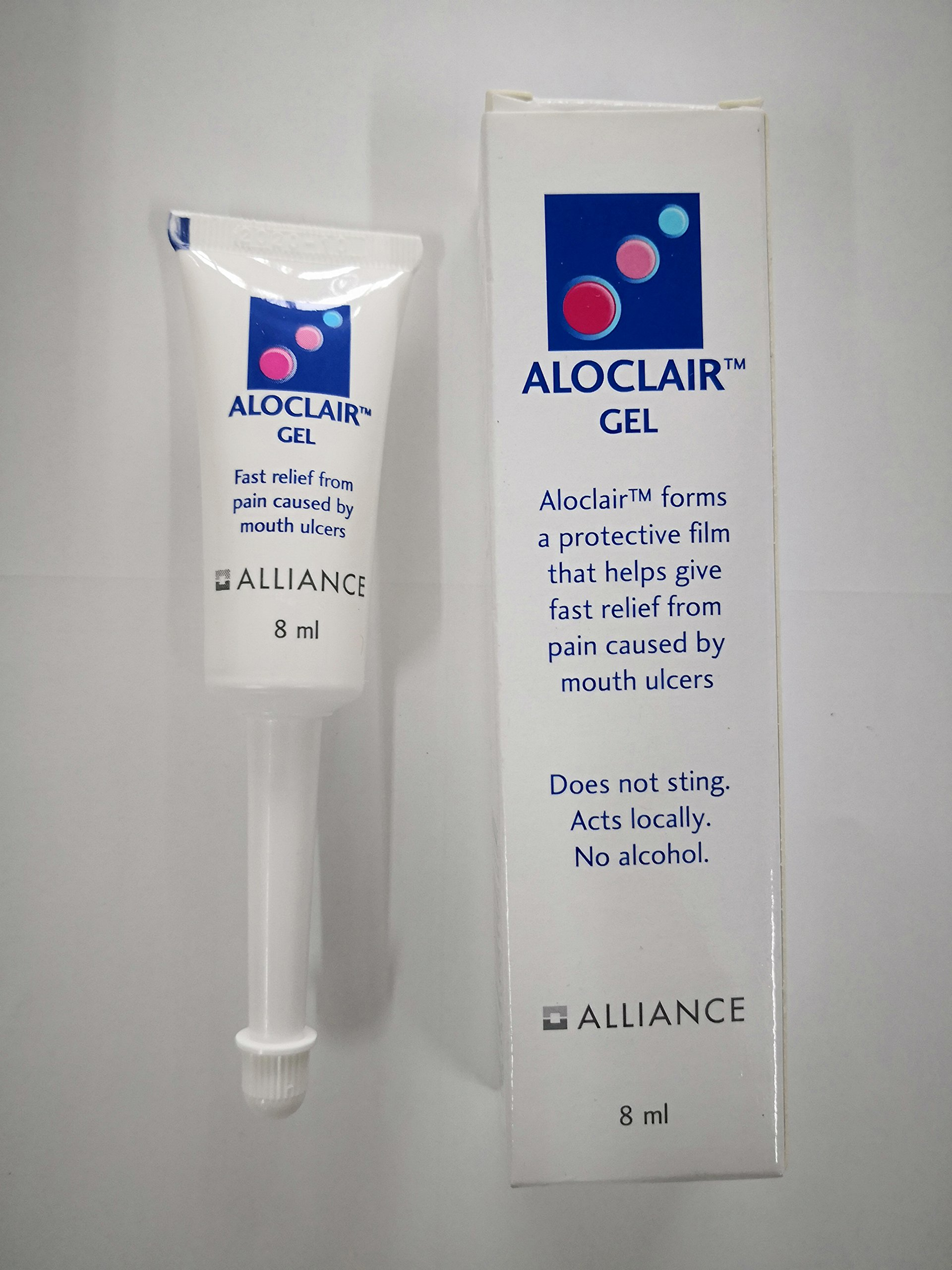 Aloclair Gel 8ml soothing mouth ulcers and sores