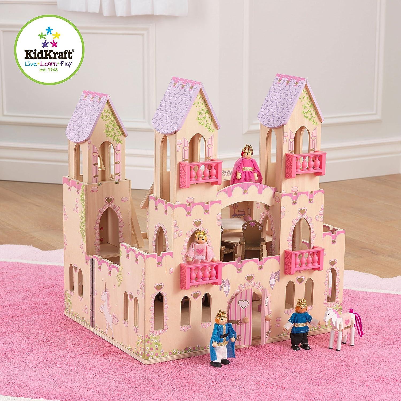 Good Castle Dollhouse Furniture #2: KidKraft-Princess-Castle-Dollhouse-with-Furniture