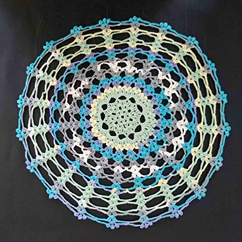 Amazoncom Lightly Starched Crocheted Table Mat Kitchen Placemat