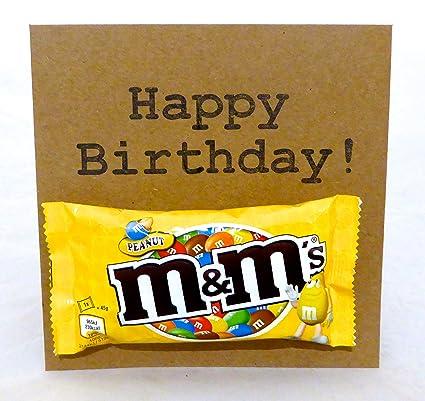 Peanut M y M Chocolate tarjeta del feliz cumpleaños: Amazon ...