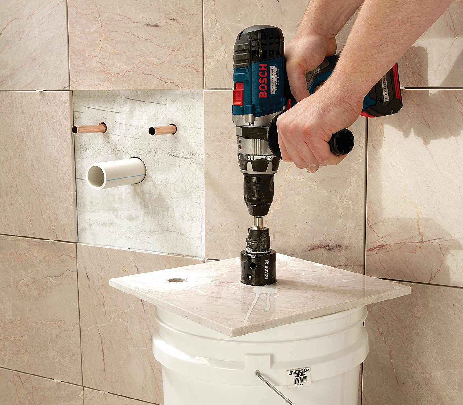 How to Cut a Circle in Tile: Bosch HDG11
