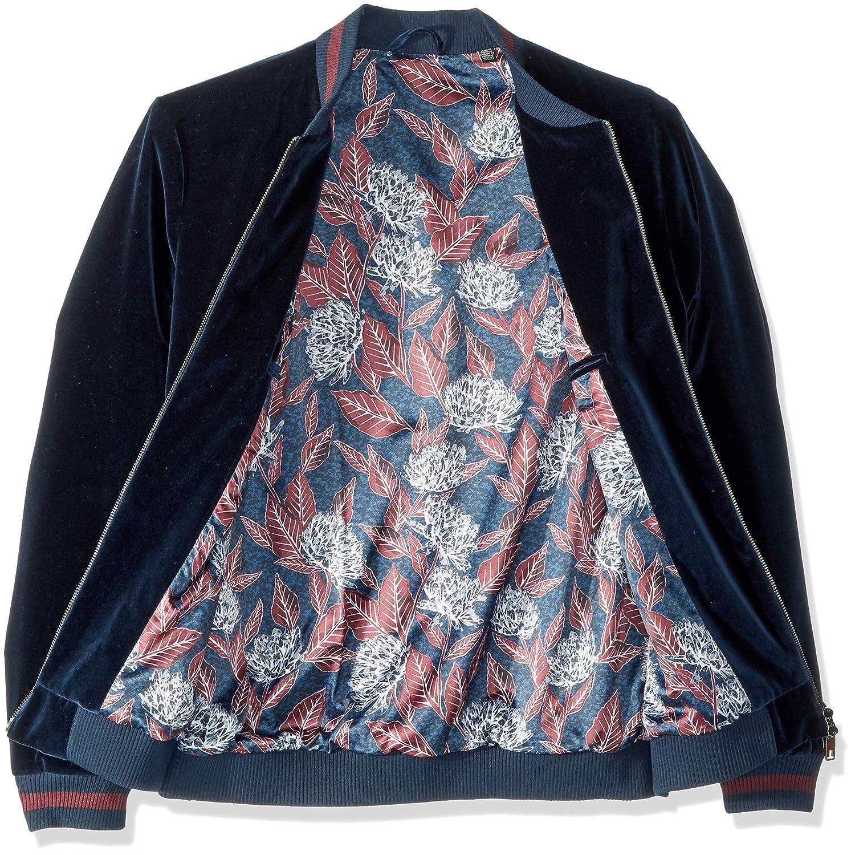 b89480bf7 Amazon.com  Ted Baker Men s Haydon Modern Slim Fit Velvet Bomber Jacket   Clothing