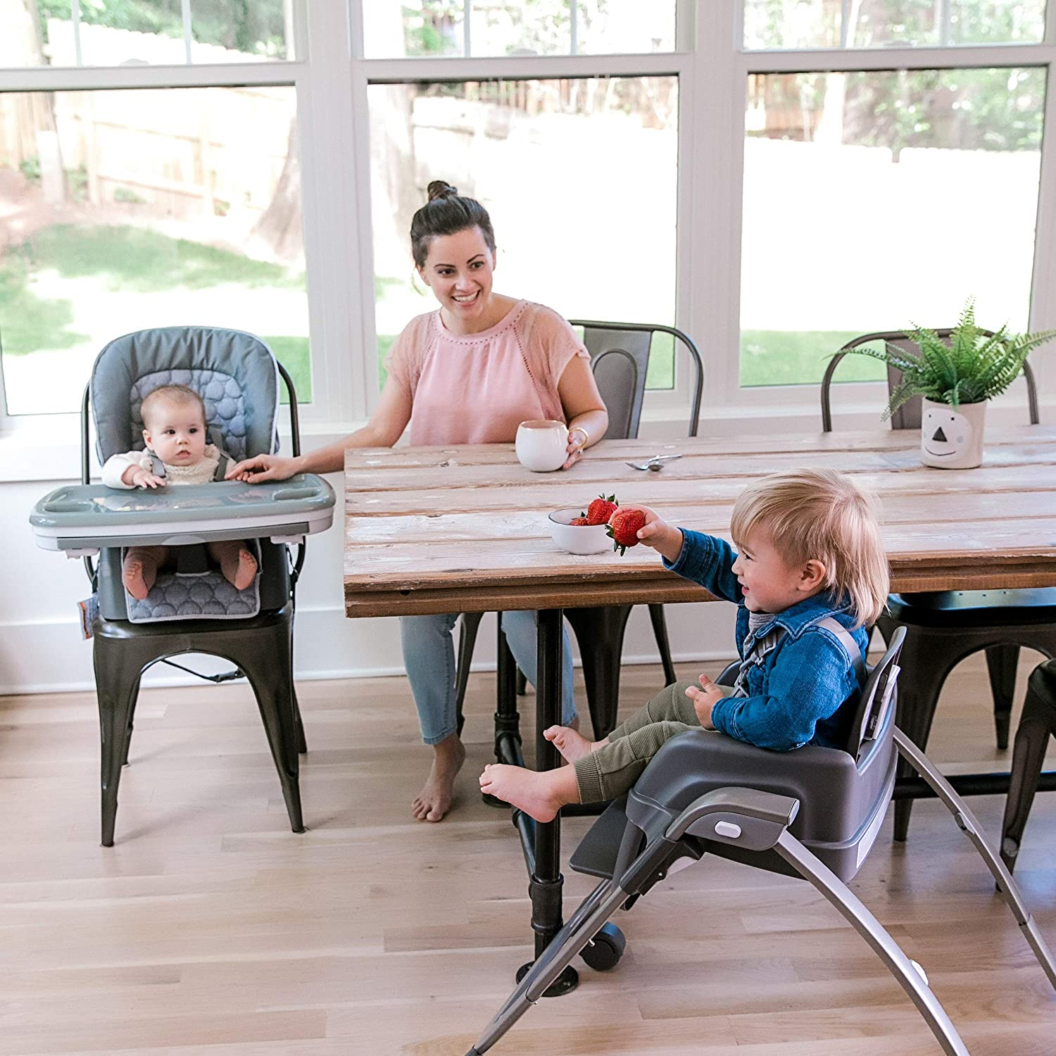 High Chair Connolly Toddler Chair and Booster Ingenuity SmartServe 4-in-1 High Chair with Swing Out Tray