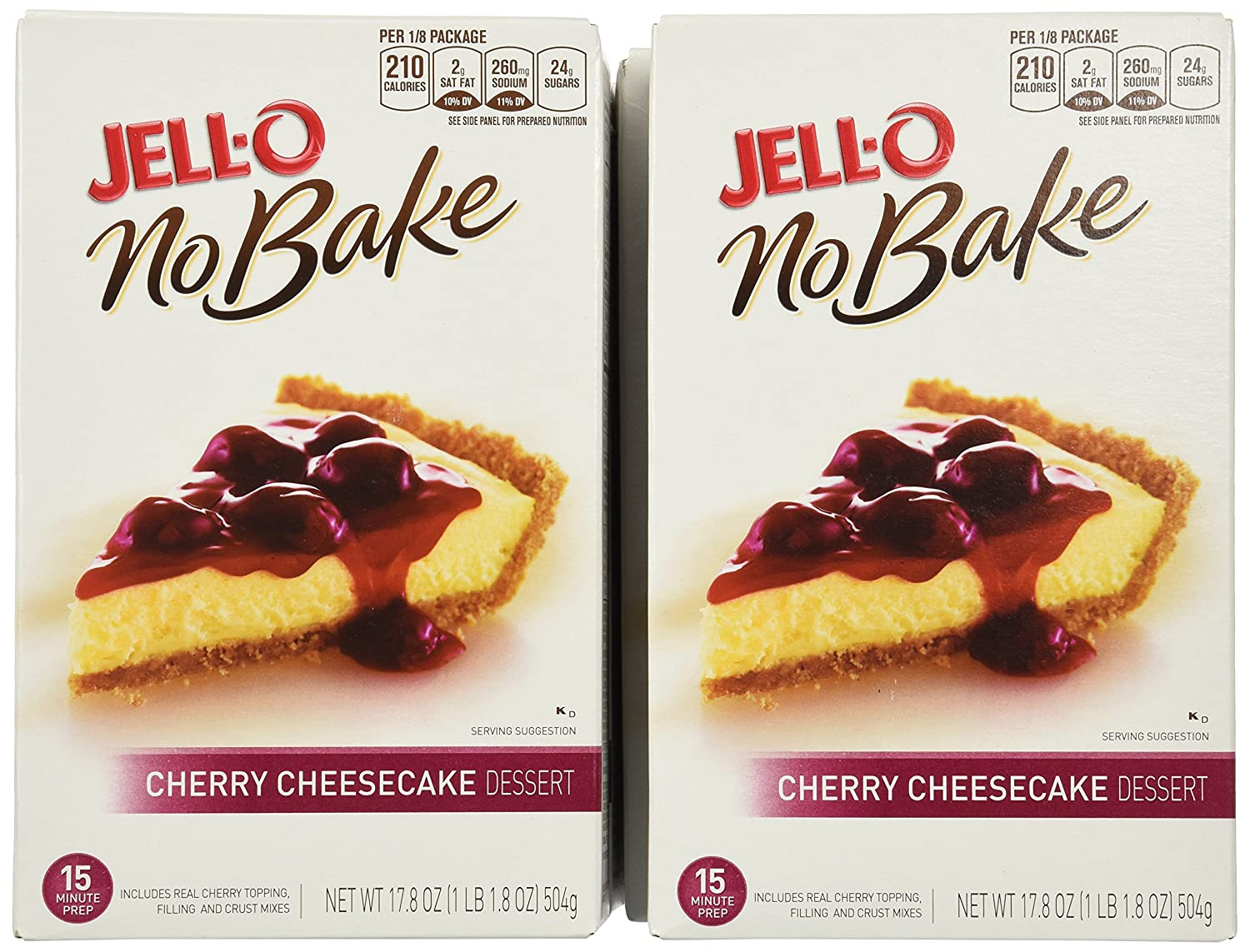 Amazon.com : Jell-O No Bake Cherry Cheesecake, 17.8-Ounce Boxes (Pack of 5) : Cake Mixes : Grocery & Gourmet Food