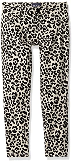 b7d3e278fed937 The Children's Place Big Girls' Leopard Printed Jeggings, Leopard Tan  74521, ...
