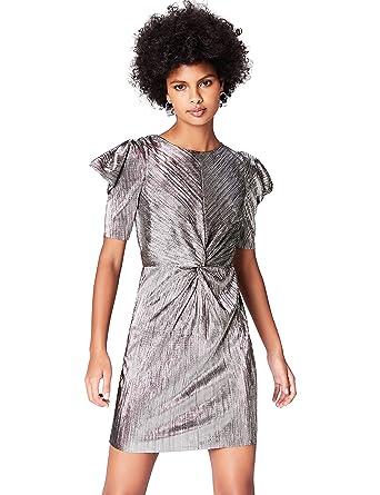 dernière remise qualité authentique haut de gamme véritable Marque Amazon - find. Robe de Soirée Plissé Métallique Femme ...