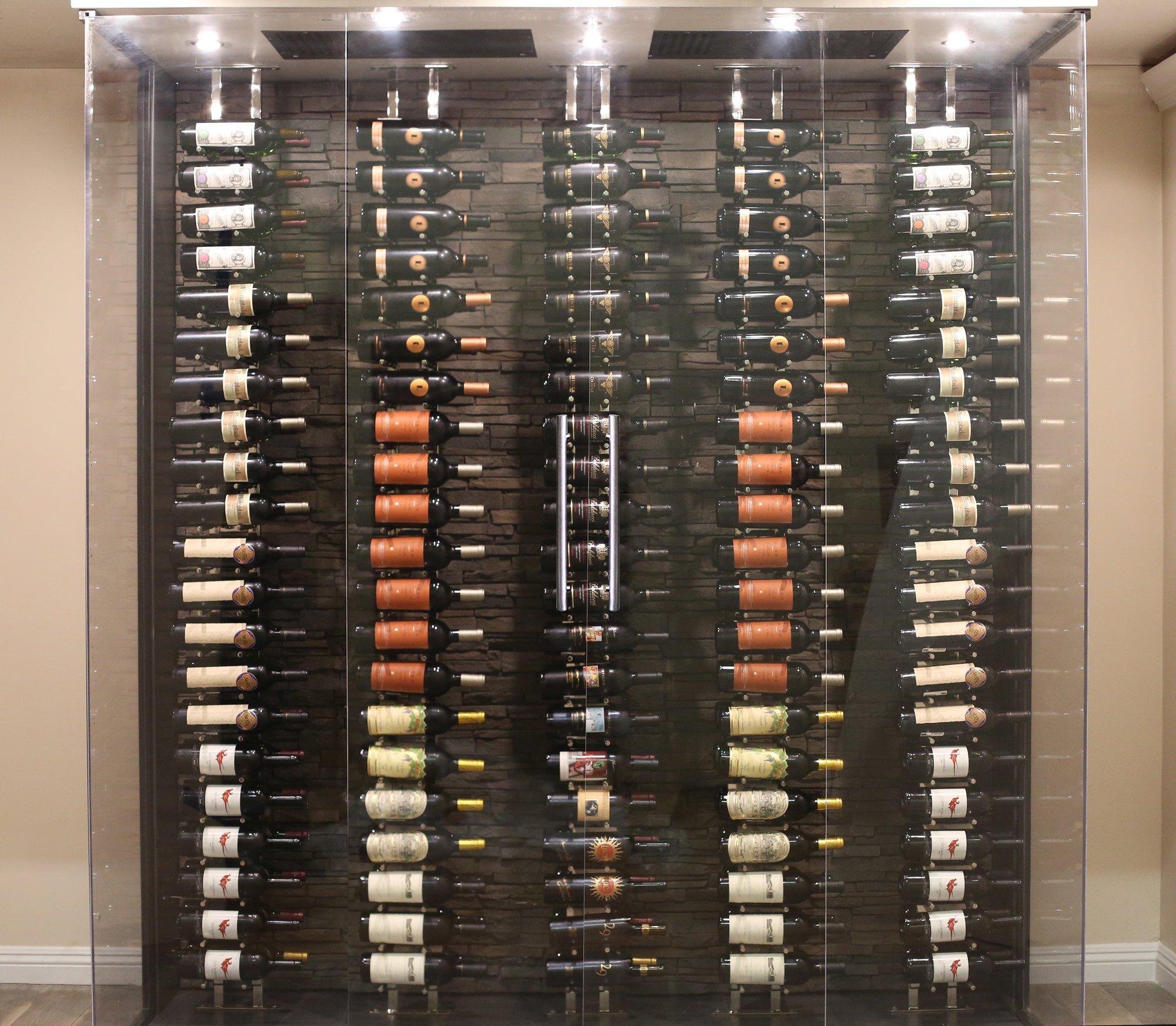 Ultra Wine Racks Floor To Ceiling Display (Chrome) by Ultra Wine Racks & Cellars