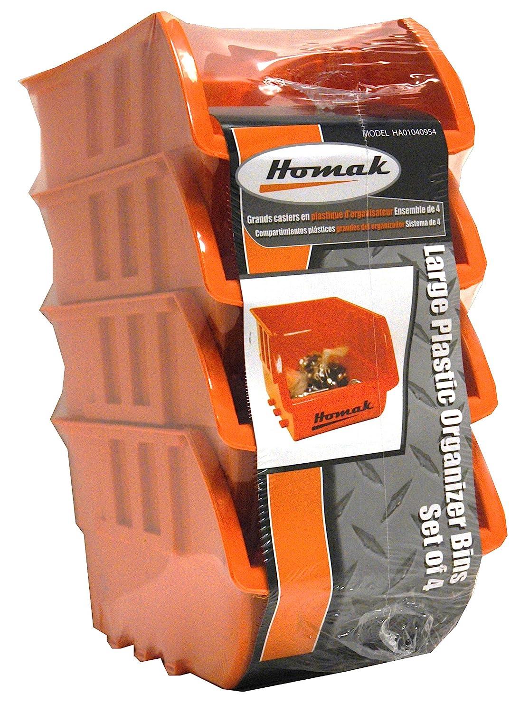 Homak Plastic Bins, Small, Set of 8, HA01080643 Homak Mfg. Co.
