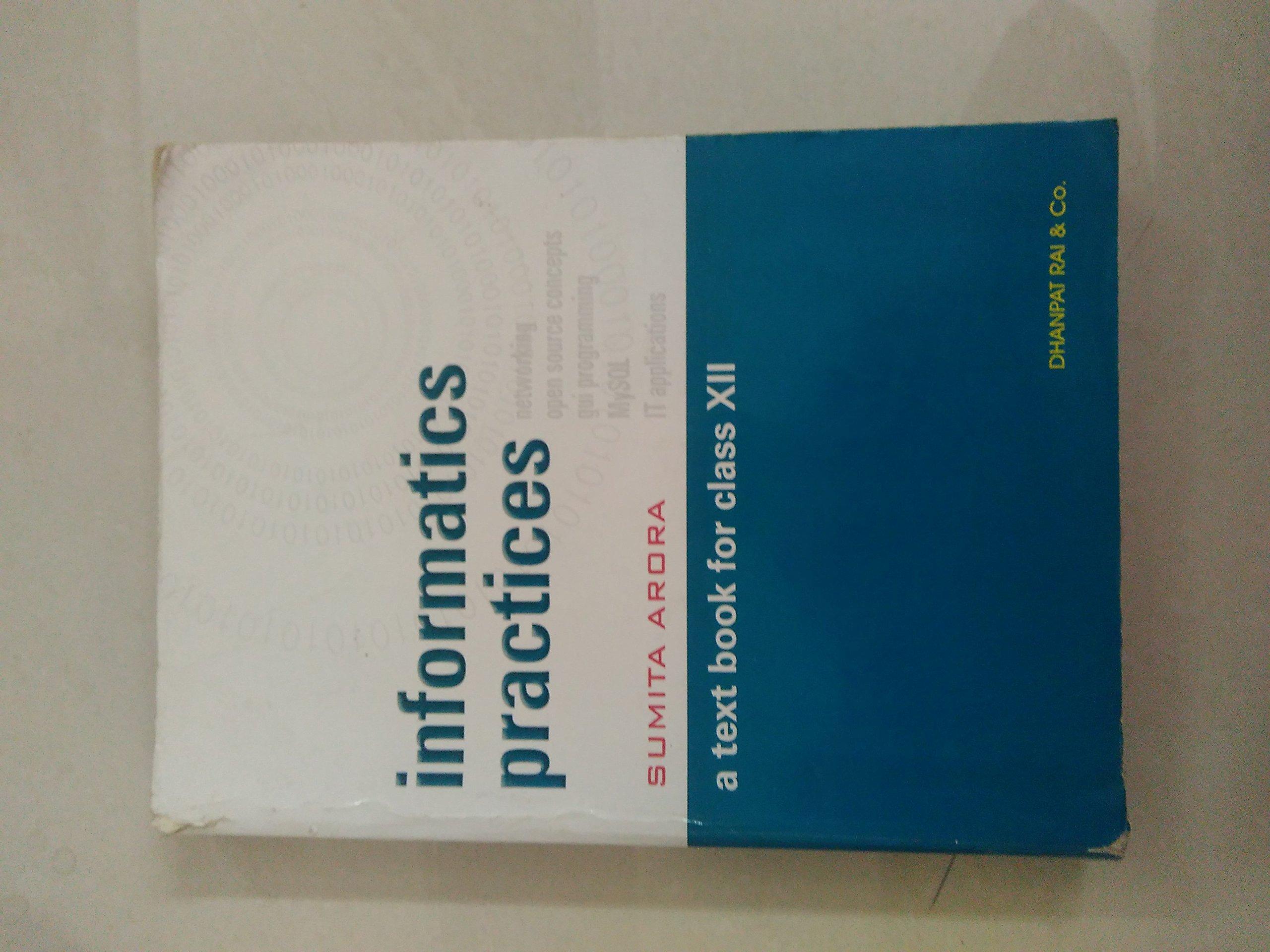 Informatics Practices By Sumita Arora Pdf