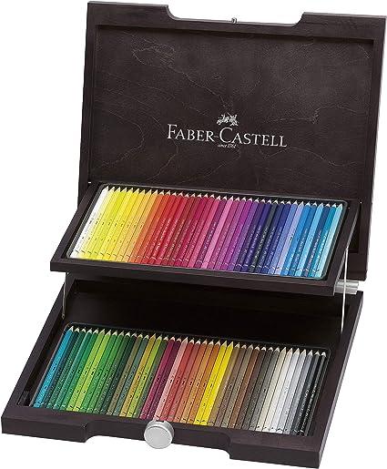 Faber-Castell 117572 - Estuche de madera con 72 ecolápices acuarelables, multicolor: Amazon.es: Oficina y papelería