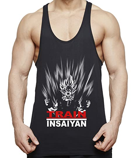 Train Insaiyan Son Goku Camiseta de Tirantes para Hombre Dragon Master Ball Vegeta Turtle Roshi: Amazon.es: Ropa y accesorios