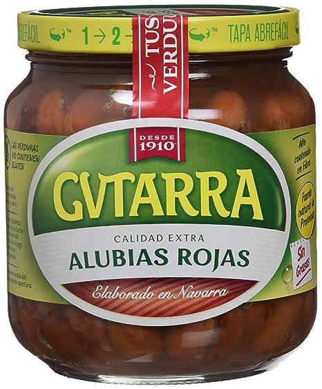 Gvtarra Alubia Roja Cocida Legumbre - Paquete de 6 x 400 gr - Total: 2400
