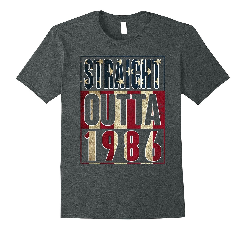 31th Birthday Straight outta 1986 American flag T Shirt