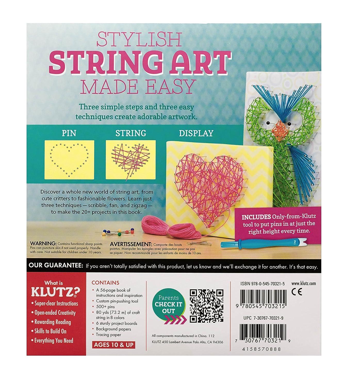 Amazon Klutz String Art Book Kit The Editors Of Klutz Toys