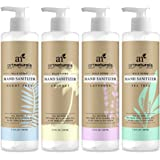 Art Naturals Hand Sanitizer, 4 Pack - 7.4 oz each - 100% Natural w/Jojoba Oil, Aloe Vera & Glycerin Infused Formula - Set Includes of Scent Free, Coconut, Lavender, Tea Tree