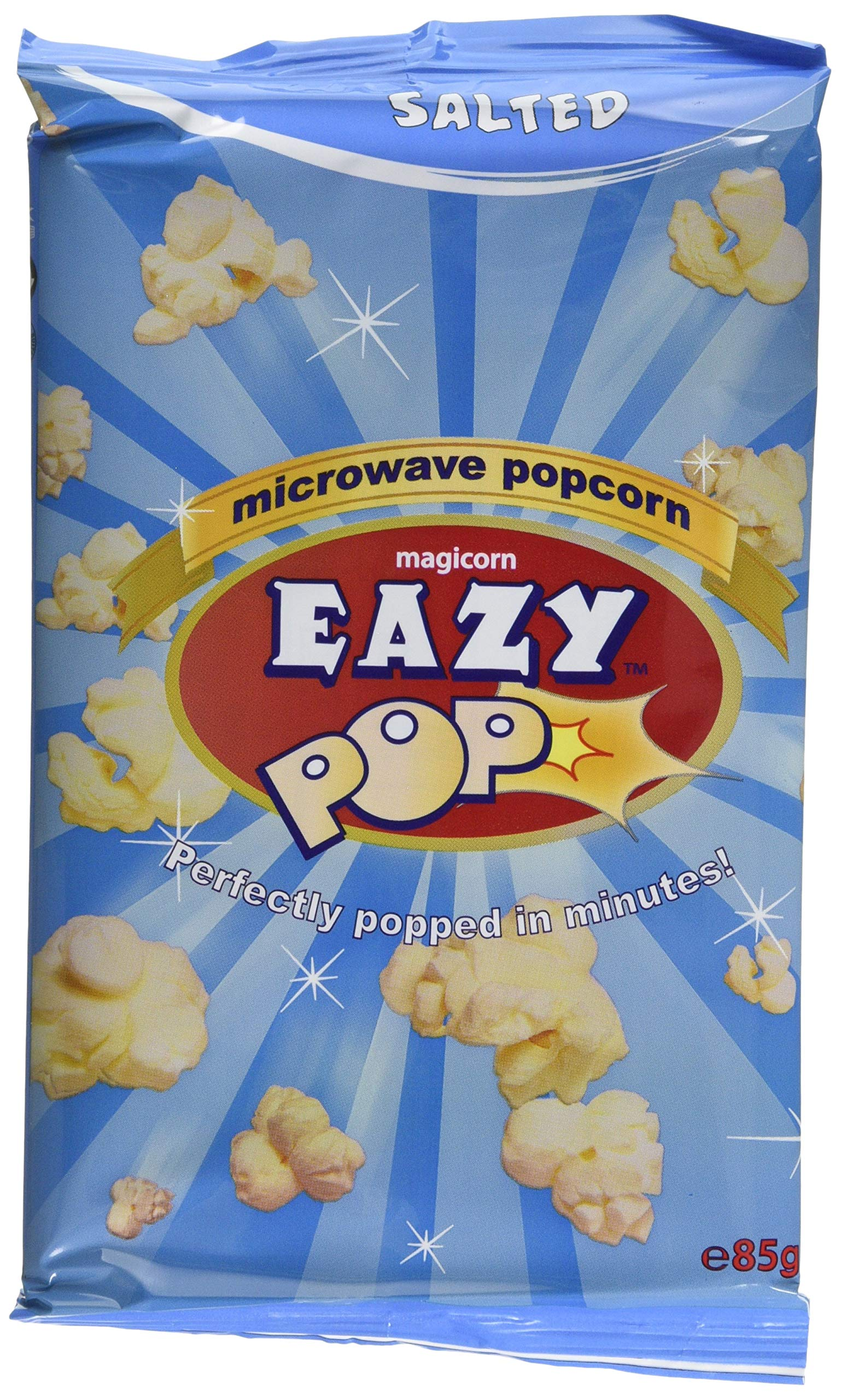 Eazypop Microwave Popcorn Salted Flavour, 16 X 85g
