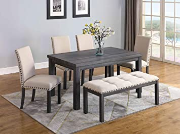 Wondrous Amazon Com Best Master Furniture Helena 6 Pcs Dining Set Alphanode Cool Chair Designs And Ideas Alphanodeonline